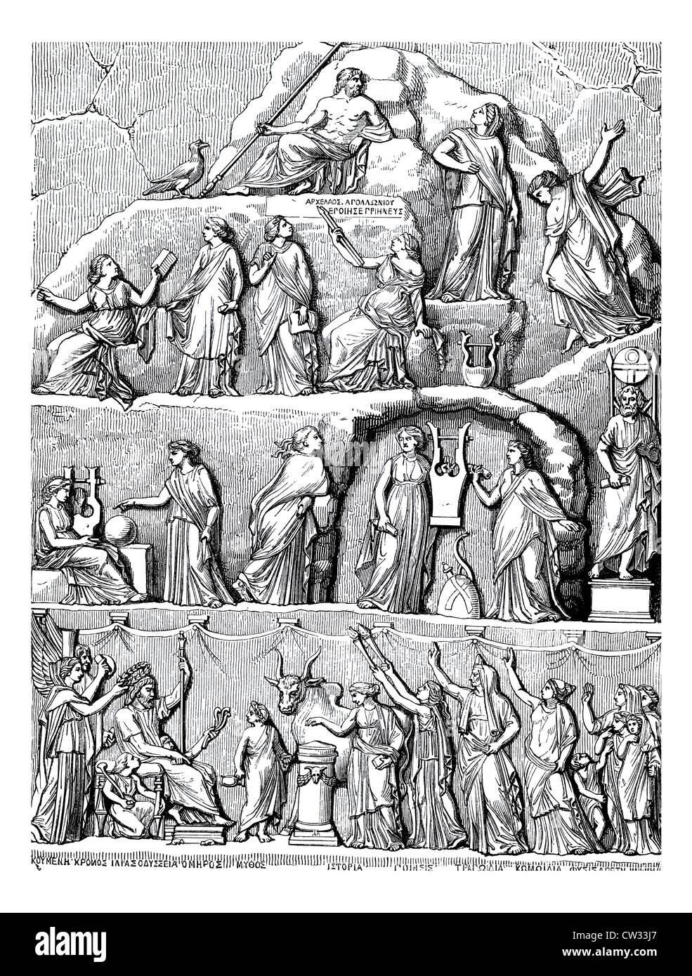 apotheosis of Homer - Stock Image