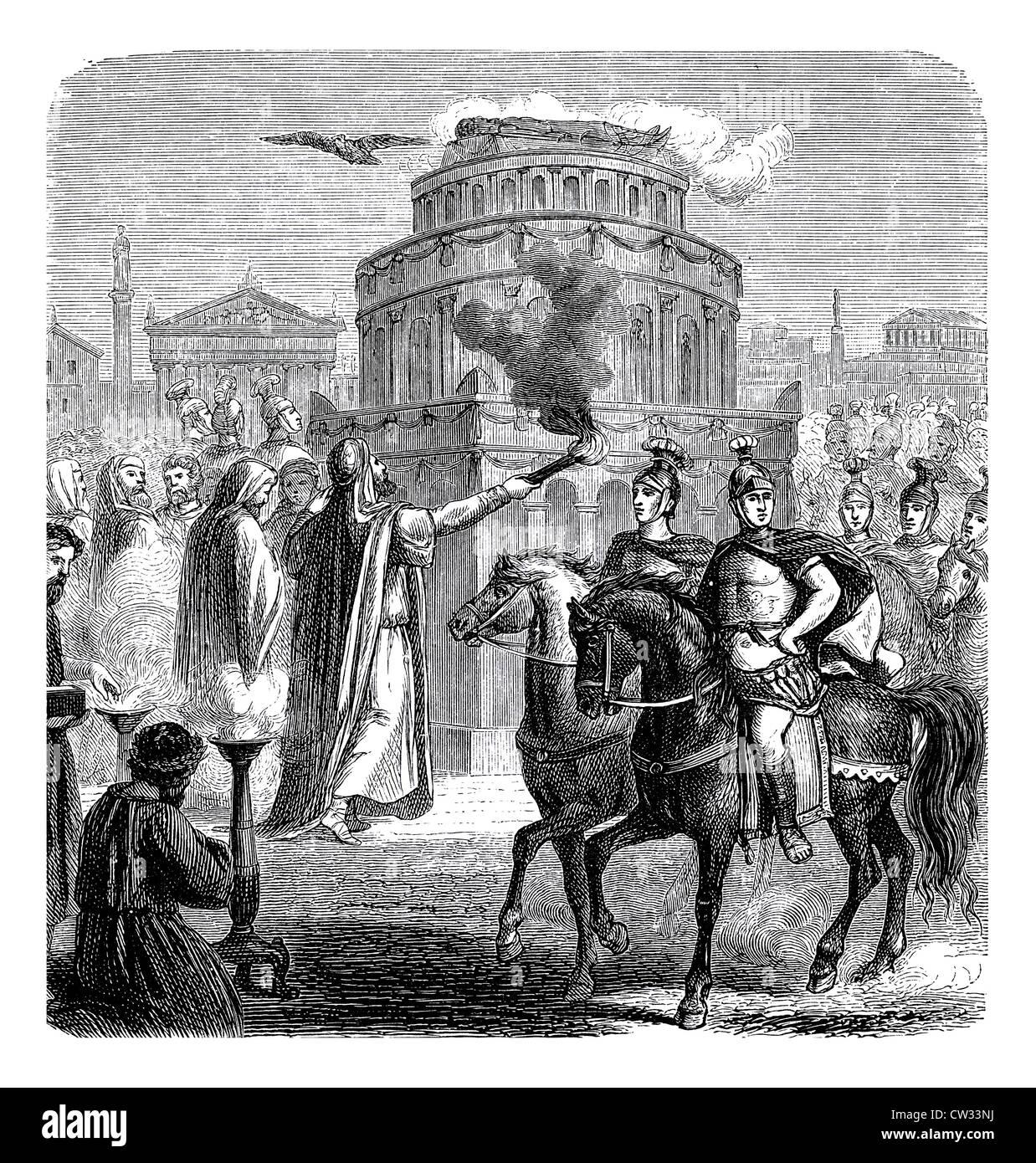 Apotheosis of an emperor - Stock Image