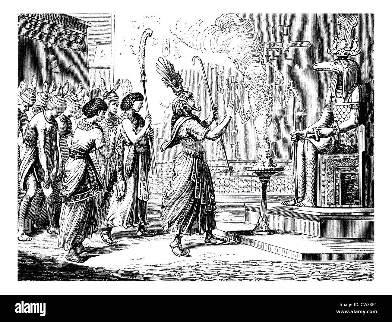 Egyptian God Of Fertility Stock Photos & Egyptian God Of