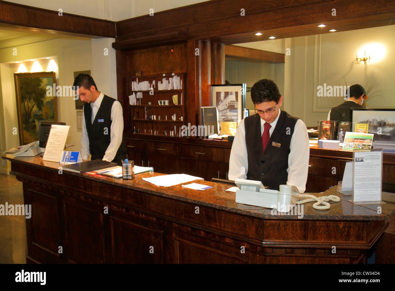 Marvelous Buenos Aires Argentina Avenida De Mayo Hotel Mundial Hospitality Lodging  Business Front Desk Hispanic Man Clerk Uniform Job Gues Gallery
