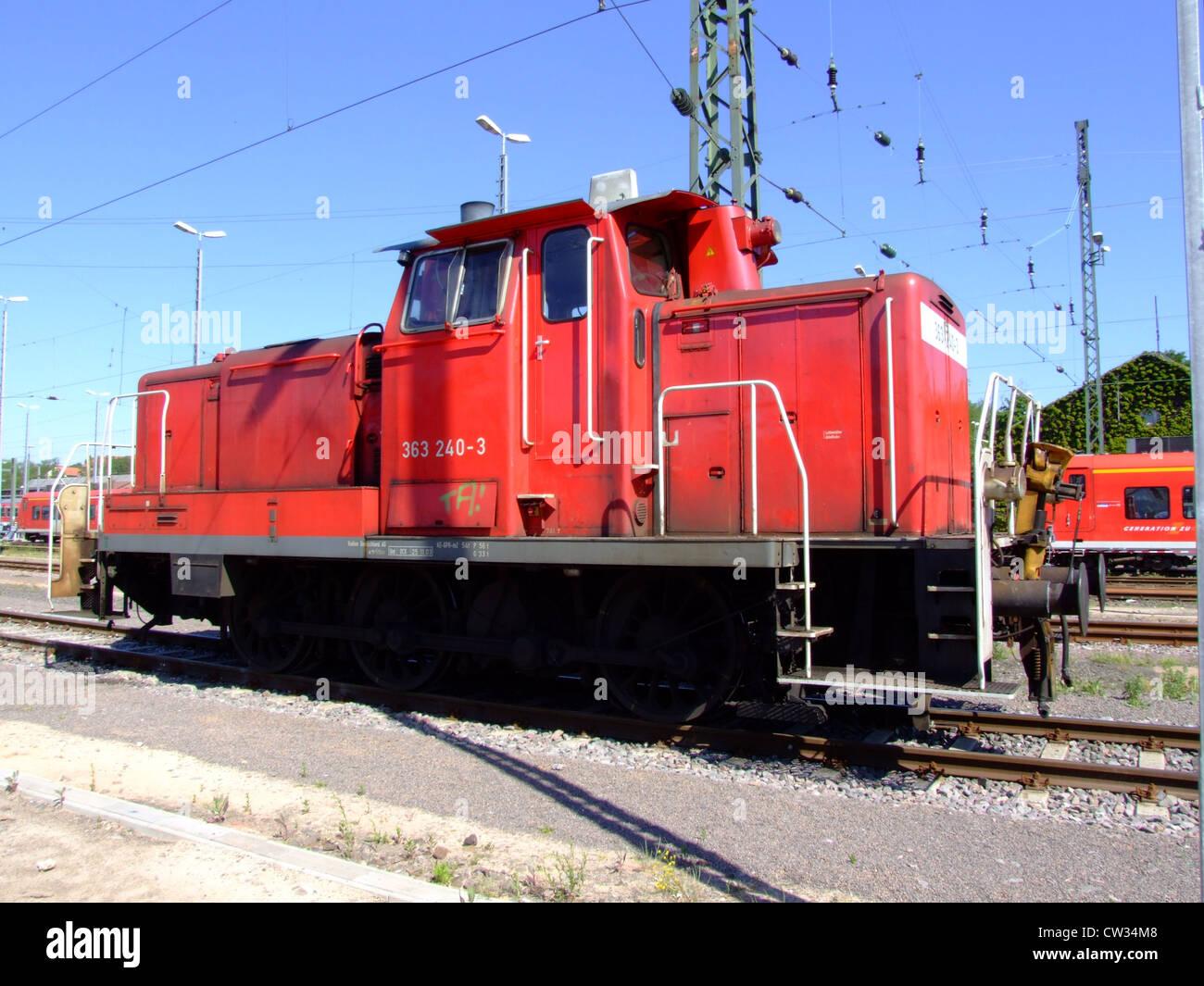 Diesel Locomotives Of Deutsche Bahn Db 363 240 3 At Saarbrücken