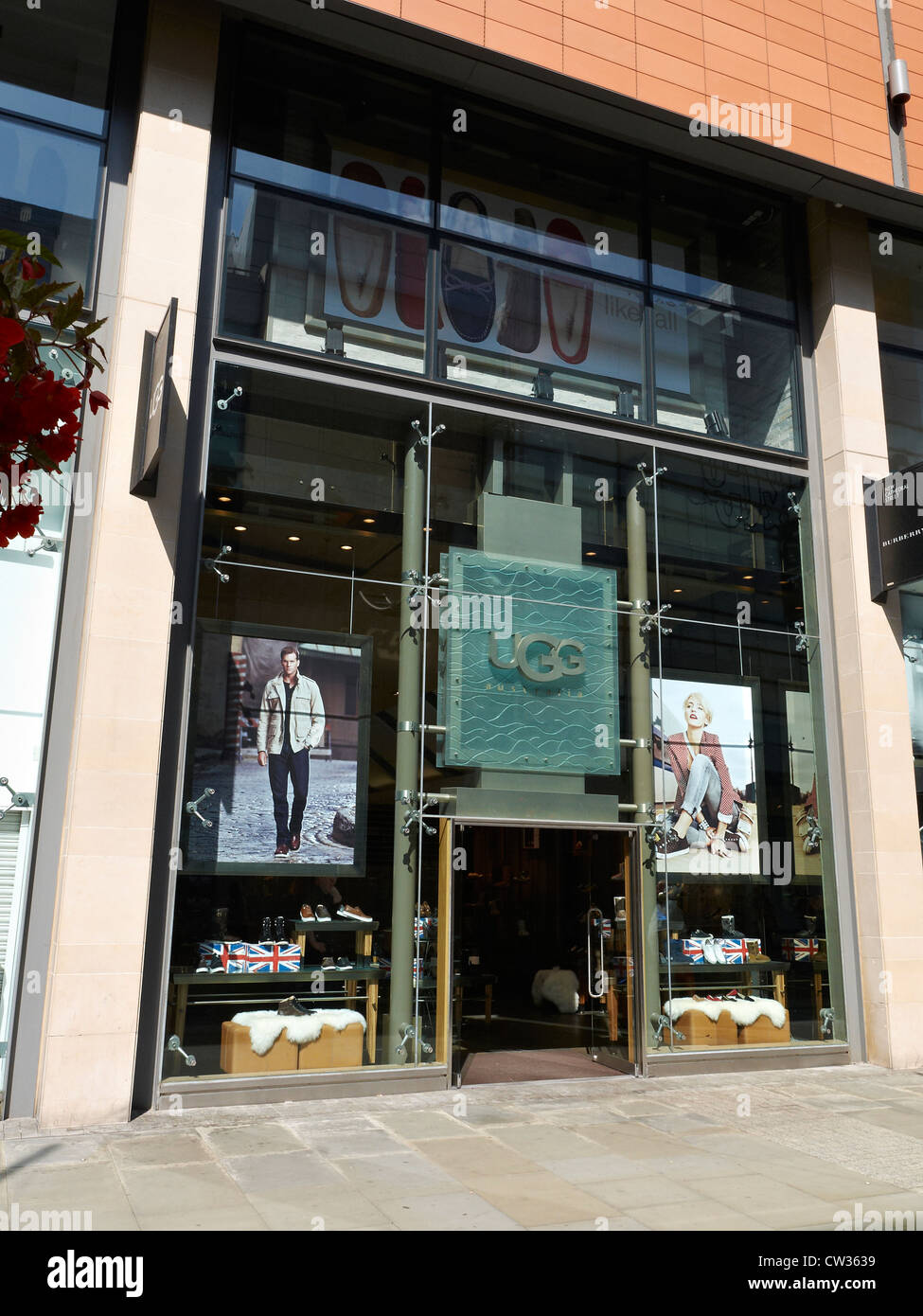UGG Australia store on New Cathedral Street in Manchester UK - Stock Image