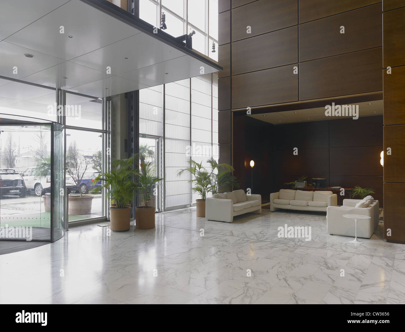 Reception, lobby in a modern hotel Stock Photo