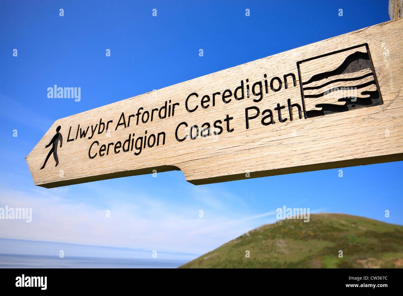 Ceredigion Coast Path - Stock Image