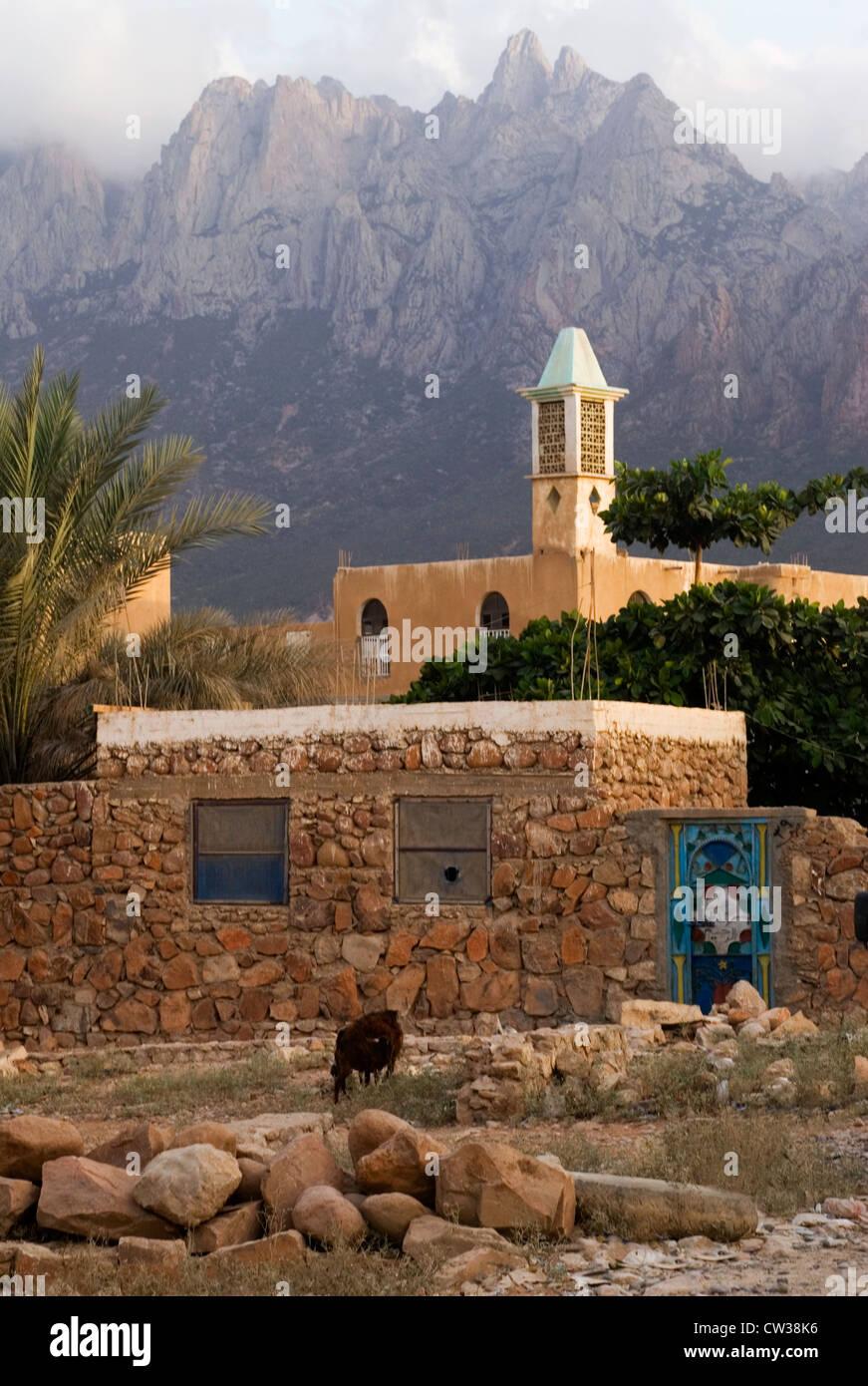 The Village of Hadibo, Socotra Island, Yemen,  Western Asia, Arabian Peninsula. - Stock Image