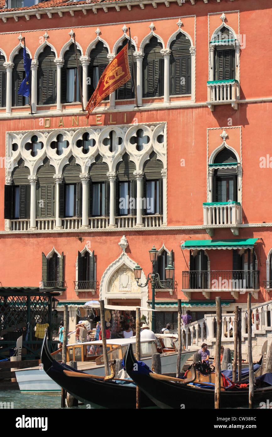 Palazzo Dandolo Gritti Bernardo,  Hotel Danieli Excelsior - Stock Image