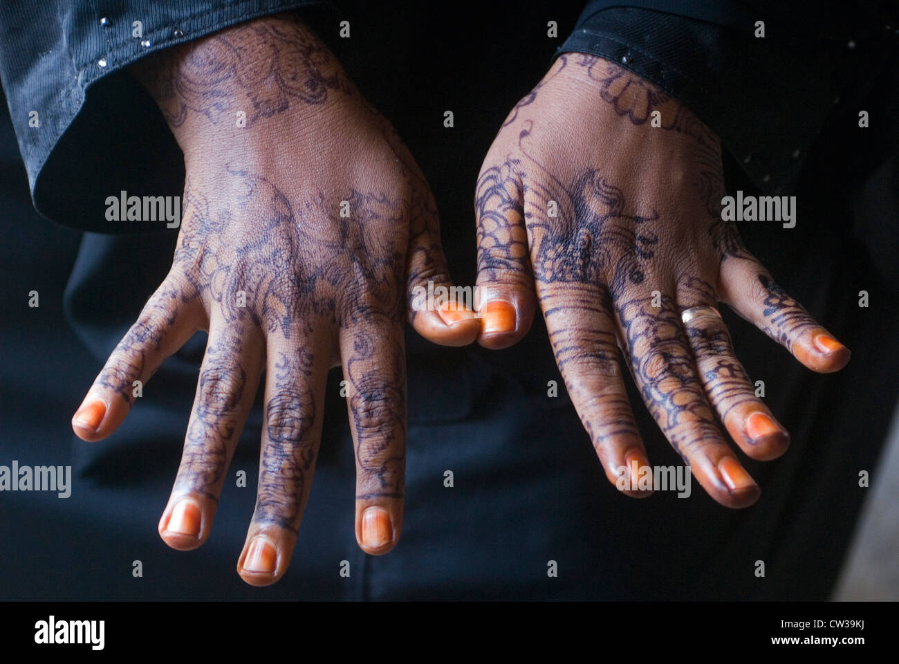 Hands Painted With Henna Stock Photos Hands Painted With Henna