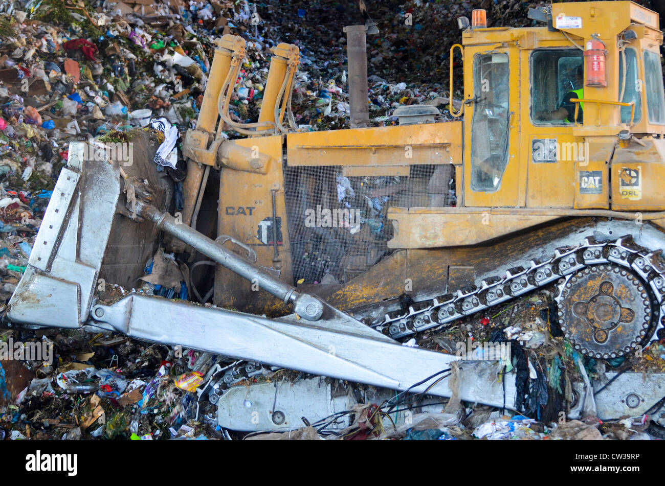Israel, Hiriya, The largest waste transfer station in the Middle East. - Stock Image