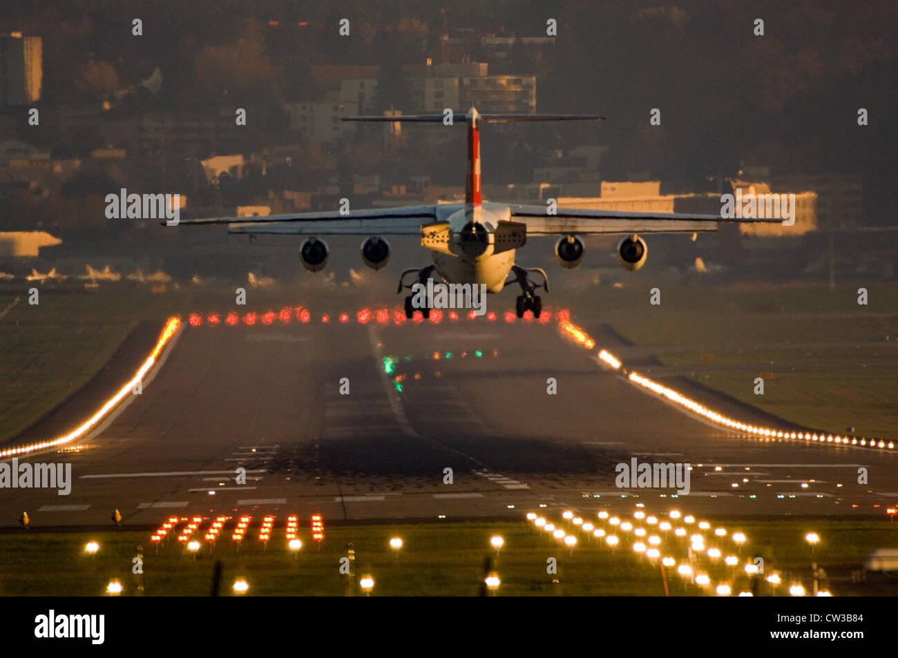 Airport Zurich (Switzerland) - Stock Image