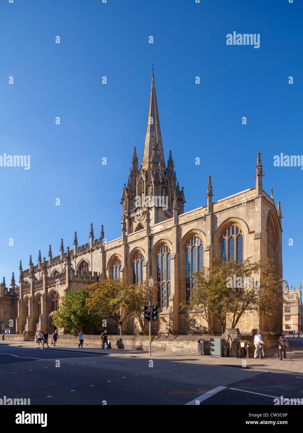 Oxford university Church Of St. Mary The Virgin - Stock Image