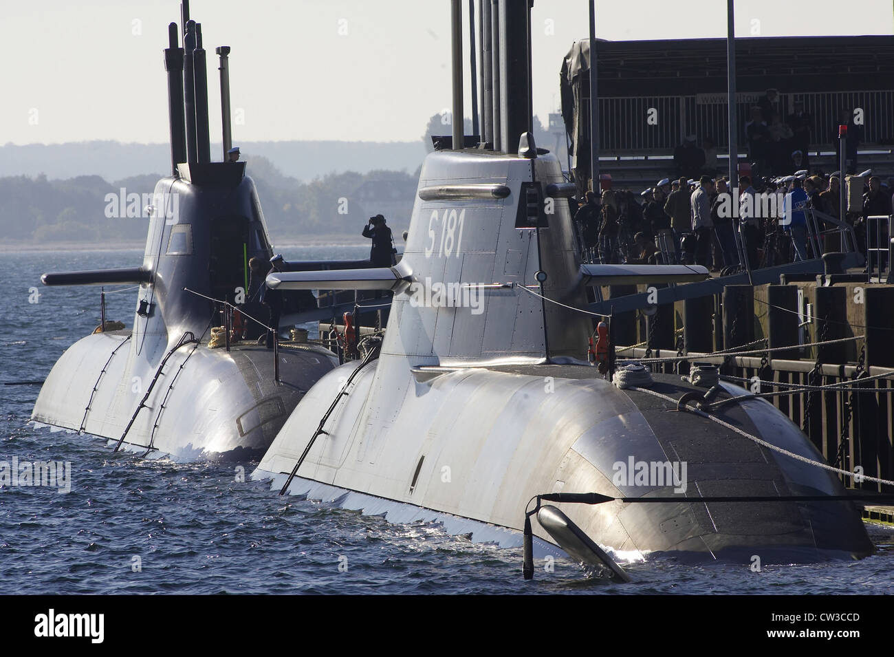 Commissioning of the fuel cell submarines U 31 and U 32 - Stock Image