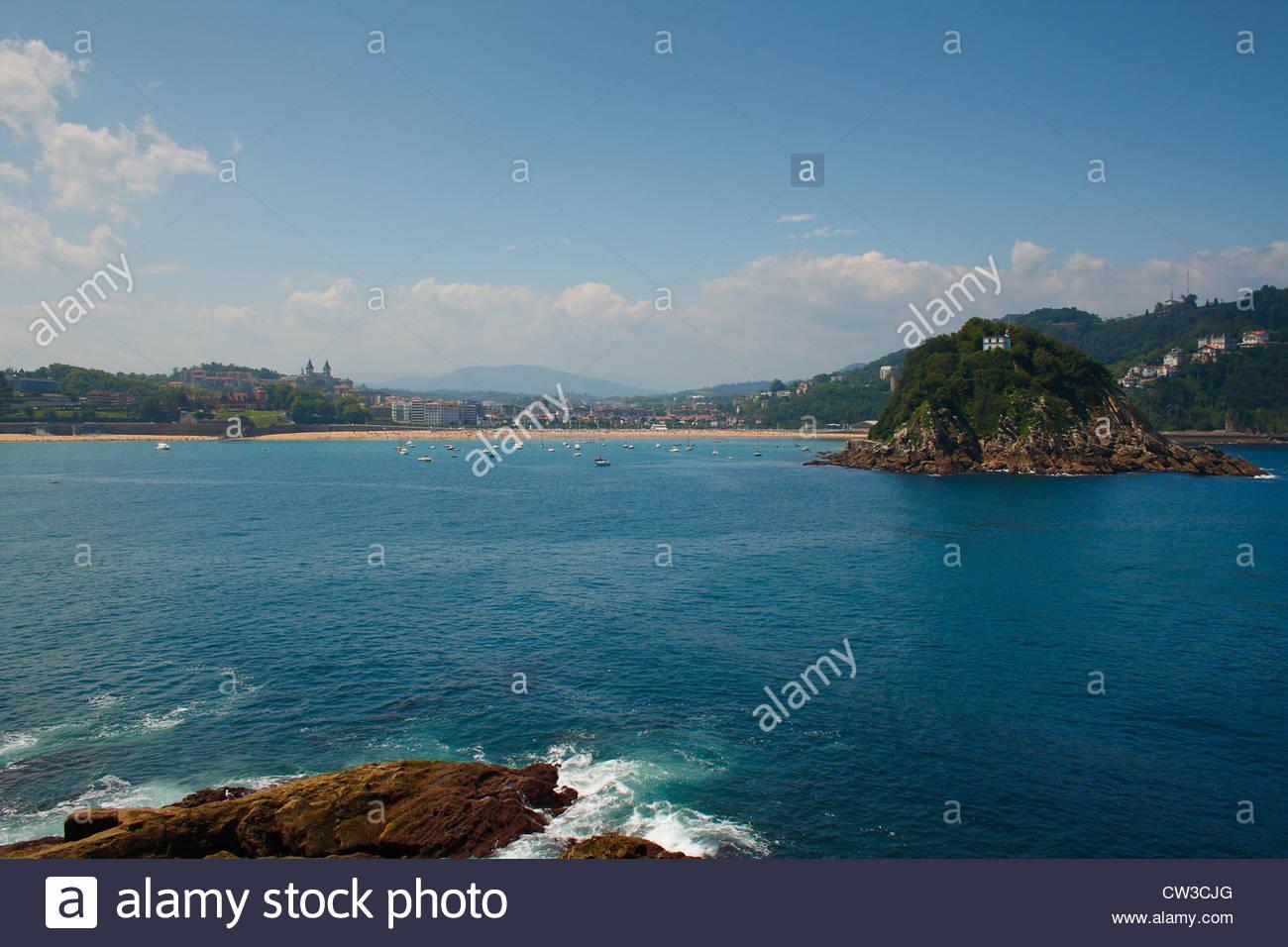 Bahia, de San Sebastian - Donosti, in Guipuzcoa - guipuzkoa, Basque Country, Spain. - Stock Image