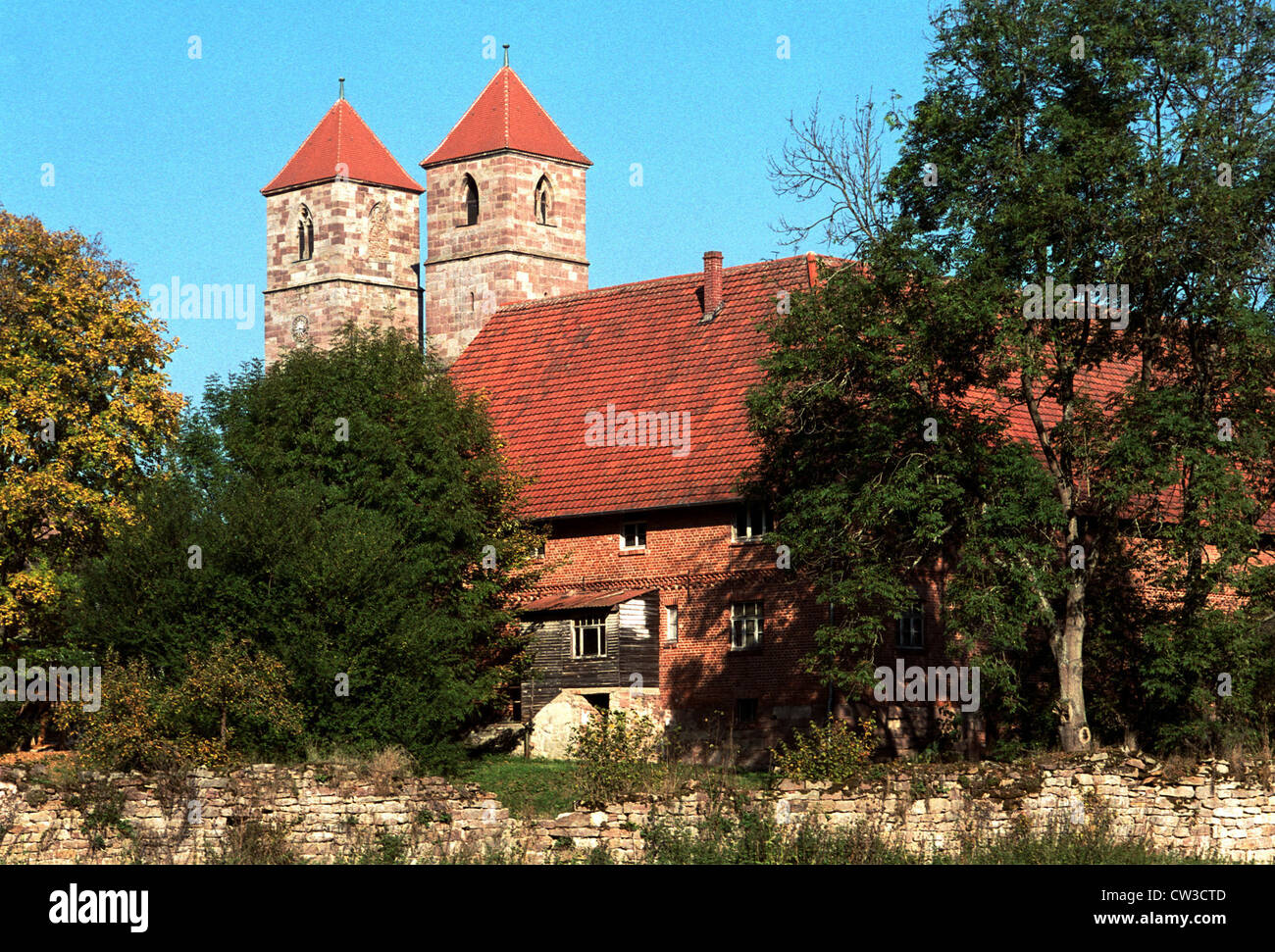 Vessra monastery, museum and monument - Stock Image