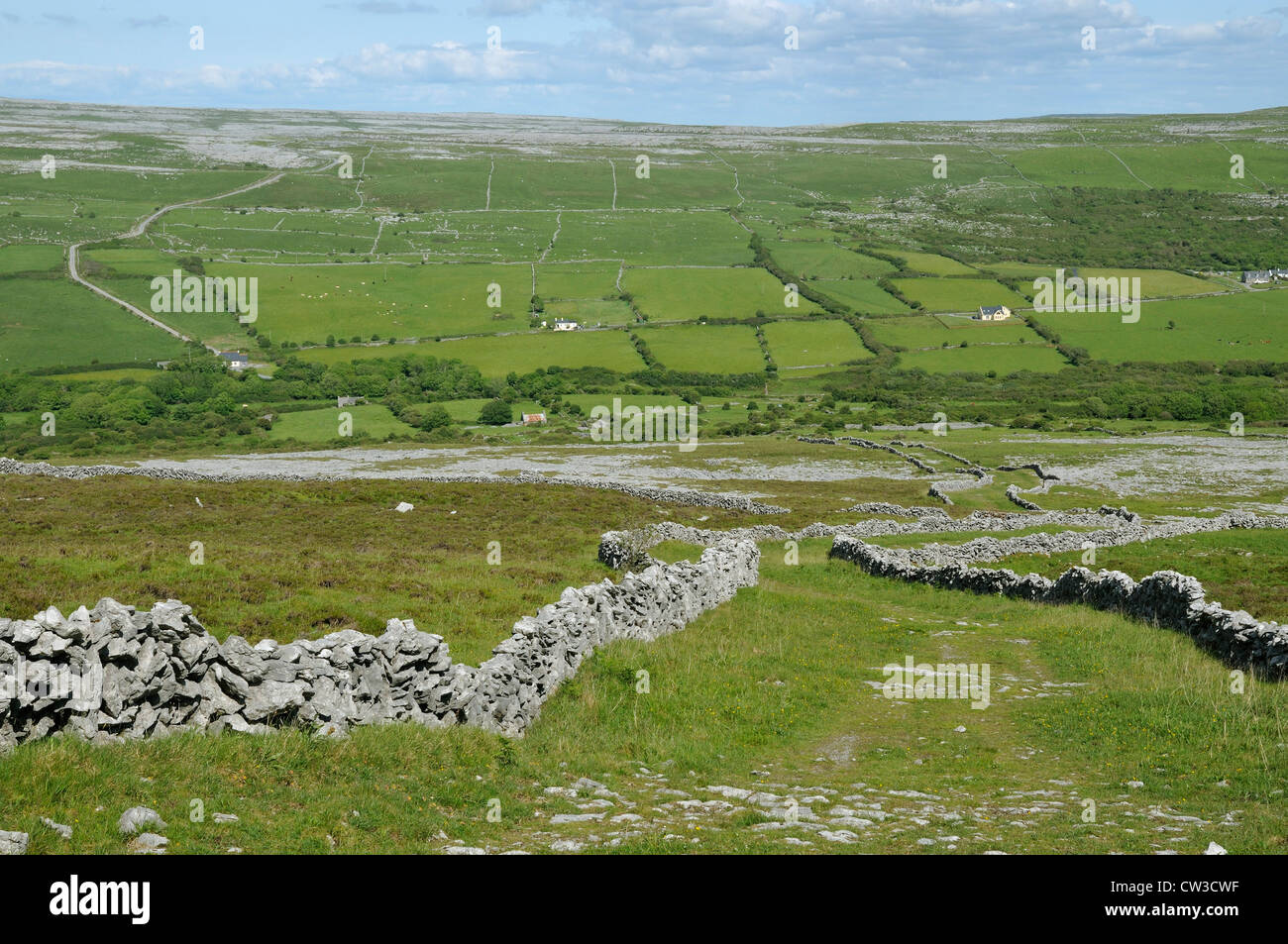 Formoyle Green Roads, Caher Valley, The Burren Stock Photo