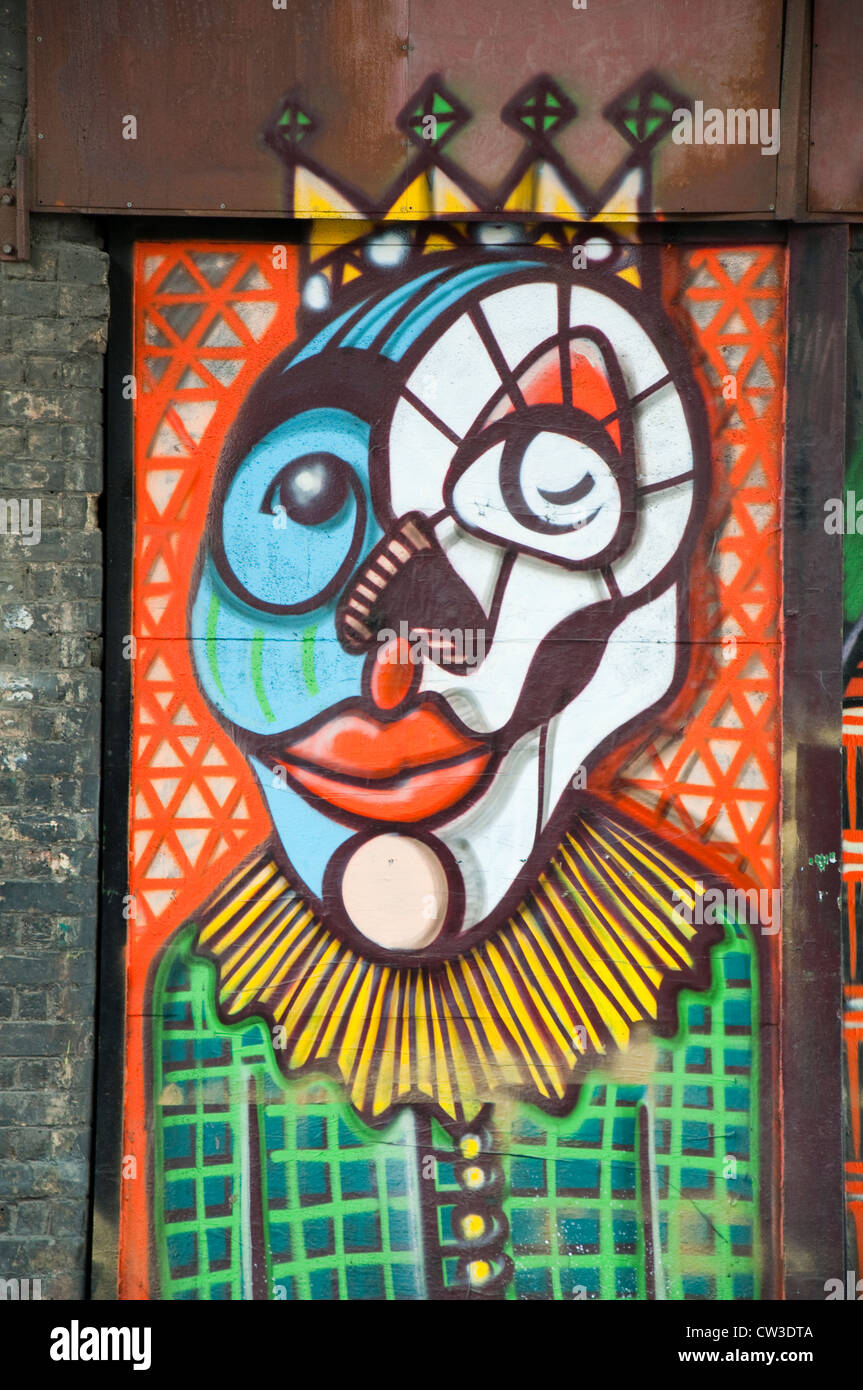 Graffiti outside the Union Theatre Cafe, Southwark in London England UK - Stock Image