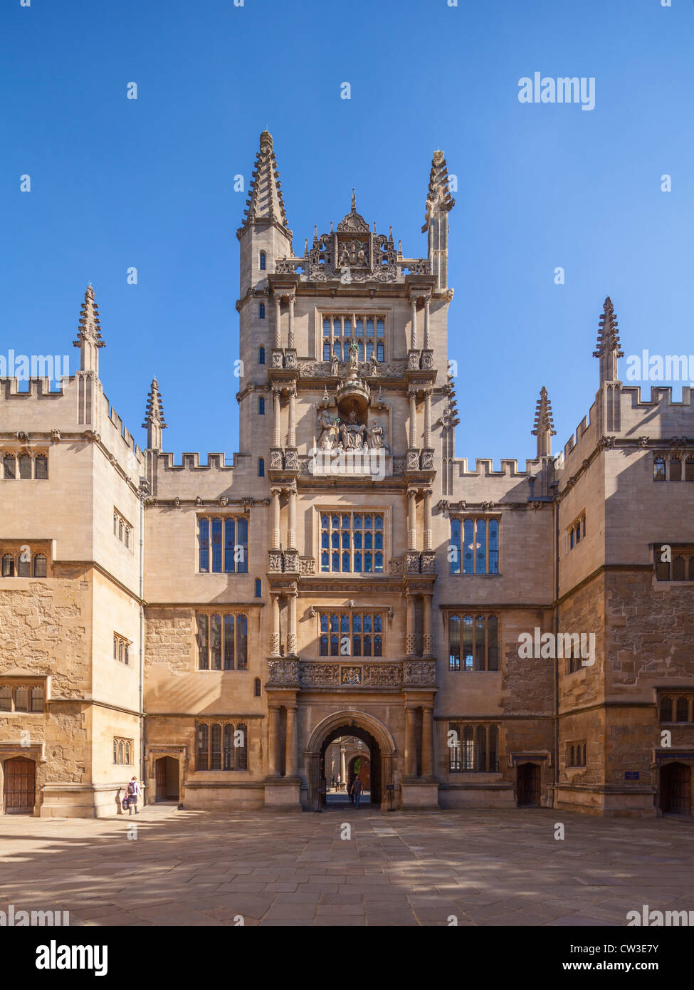 Tower of Five Orders, Bodleian Library, Oxford - Stock Image