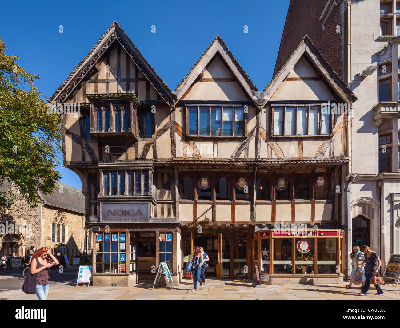 14th Century timber frame house, Oxford - Stock Image