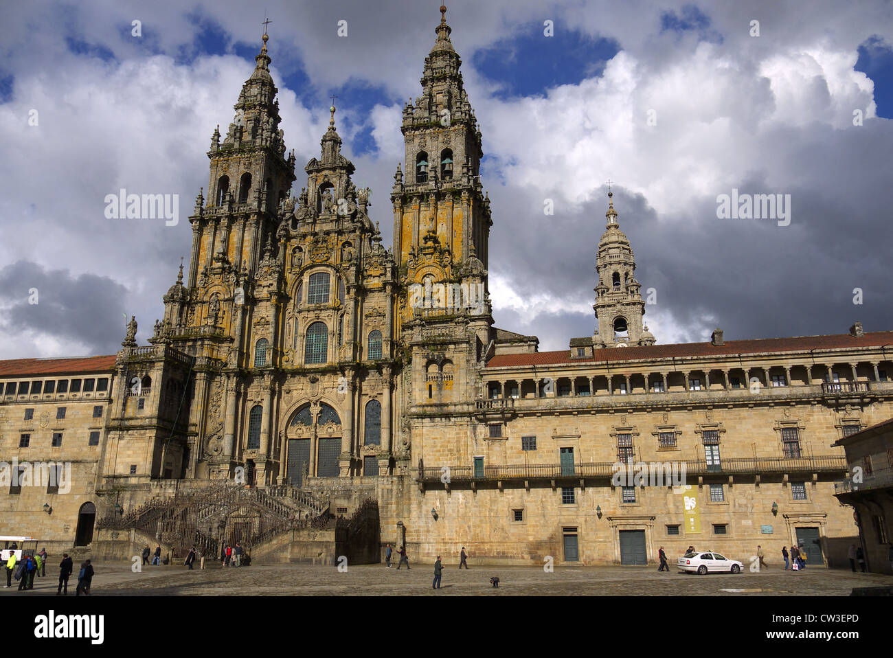 The Cathedral of St. James in Santiago de Compostela, Spain. - Stock Image