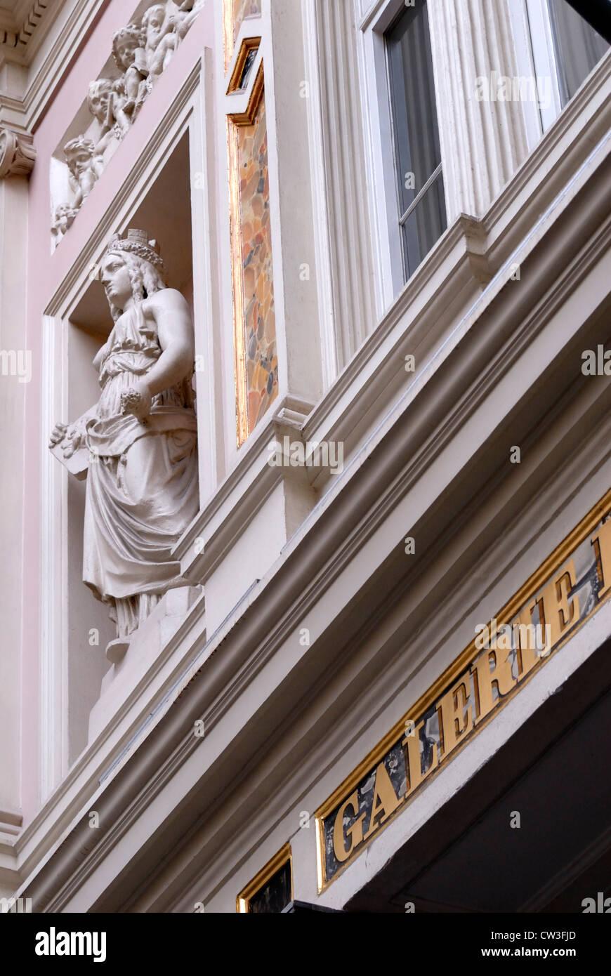 Brussels, Belgium. Galeries St Hubert - detail - Stock Image