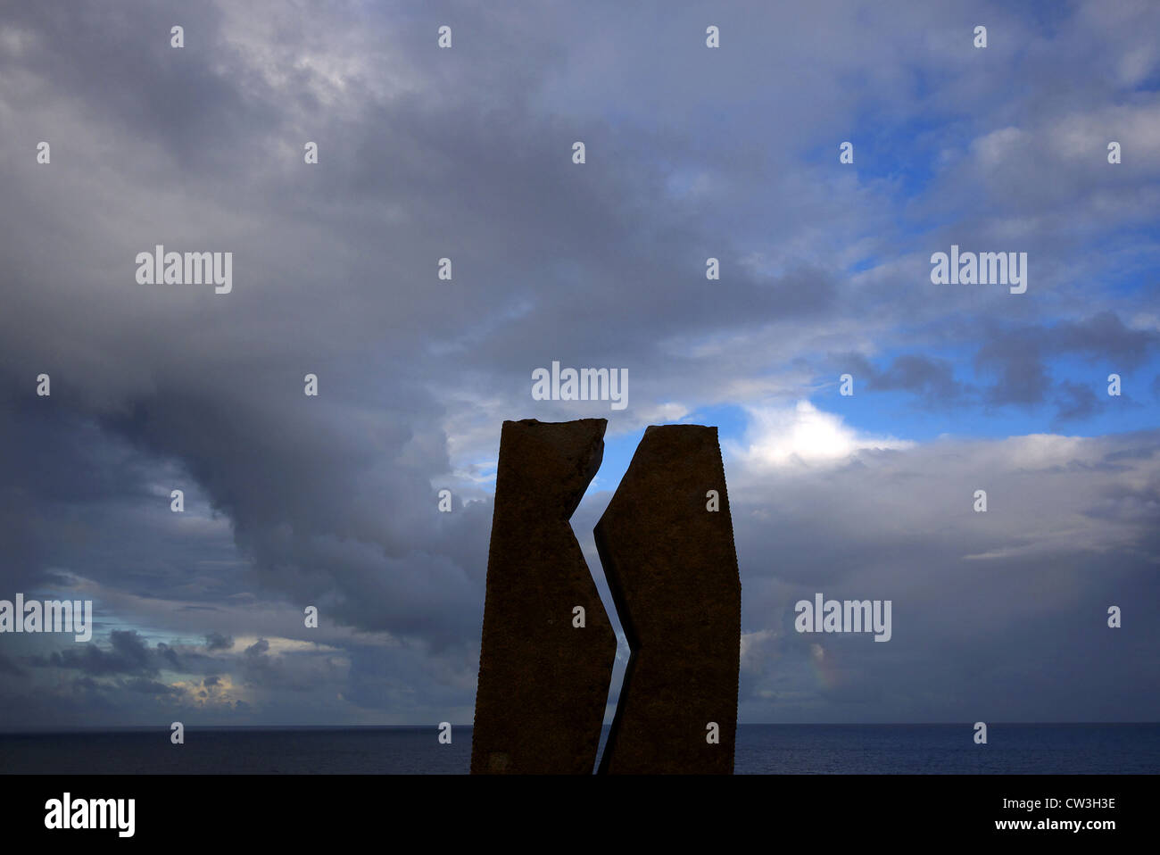 Monument to the Prestige oil spill at Muxia, Galicia, Spain. - Stock Image