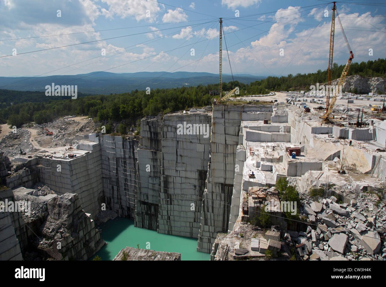 Graniteville, Vermont - The Rock of Ages corporation's granite quarry. - Stock Image
