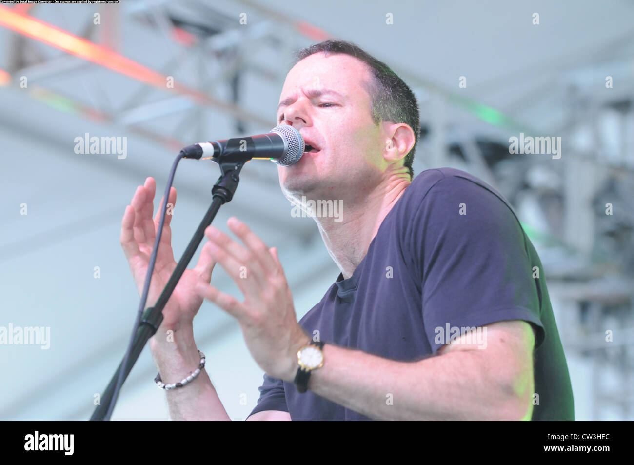 Gregory Grene of Prodigals performs at the Dublin Irish Festival in Dublin Ohio. - Stock Image