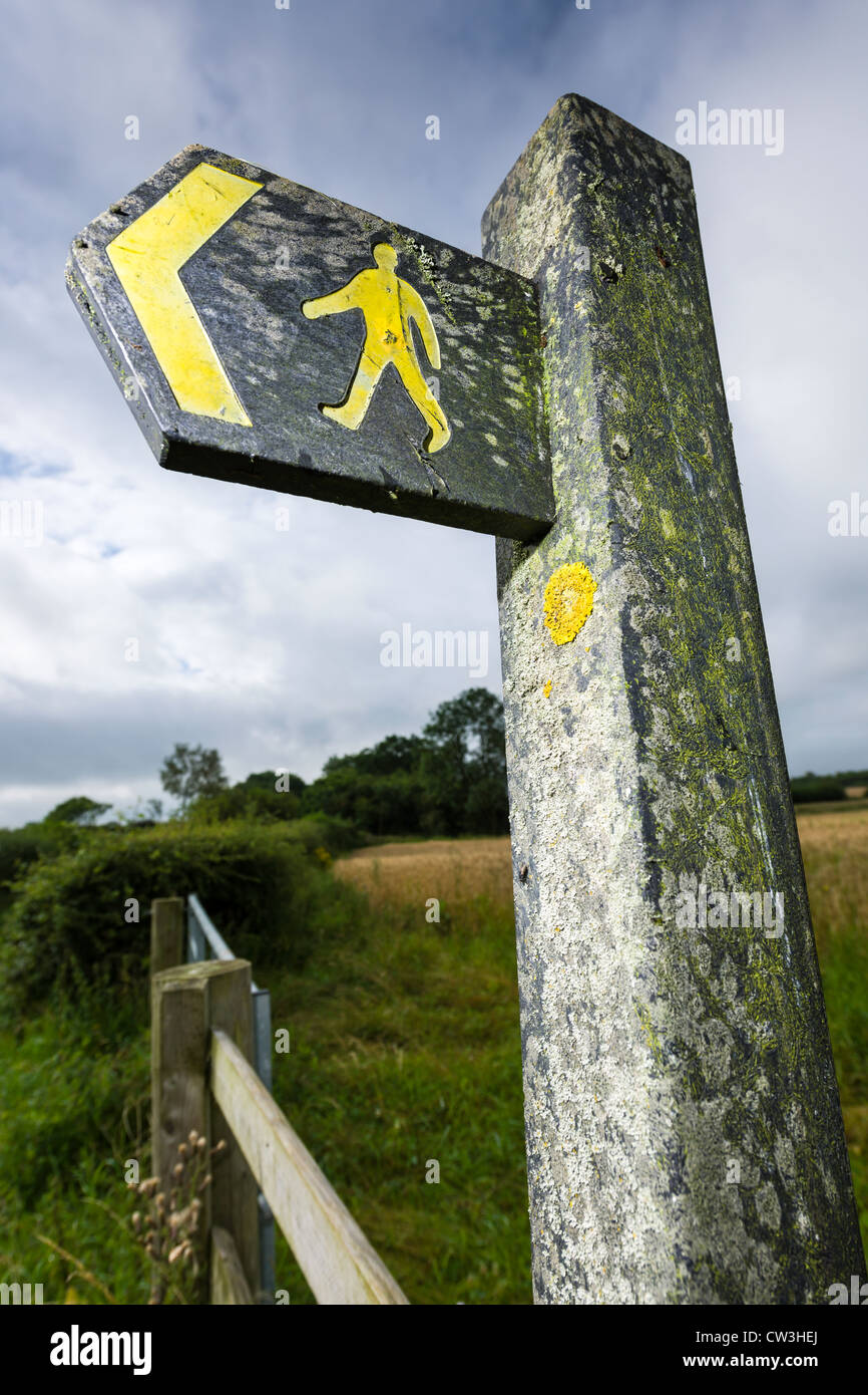 Right of way - Public footpath - Stock Image