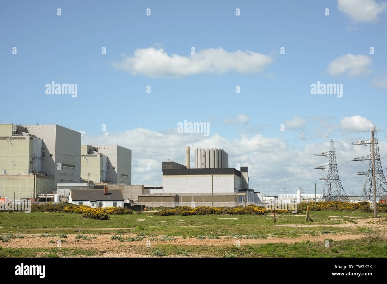 The nuclear power generating station at Dungeness, Kent, UK, This planr is known as Dungeness B. - Stock Image