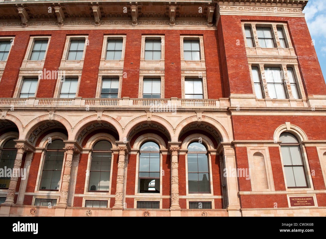 Victoria & Albert Museum, Henry Cole Wing, Exhibition Road, South Kensington, London, UK - Stock Image
