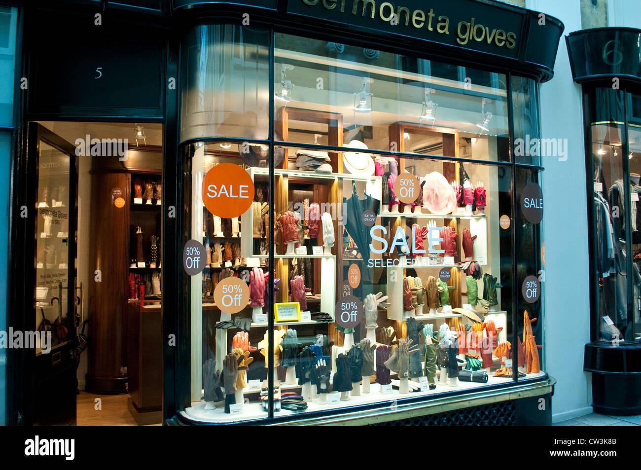 Sermoneta gloves shop, Burlington Arcade, London, UK - Stock Image
