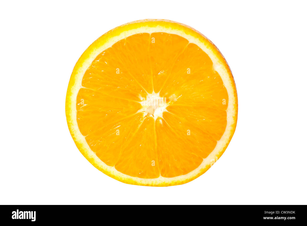 Orange slice isolated on white - Stock Image