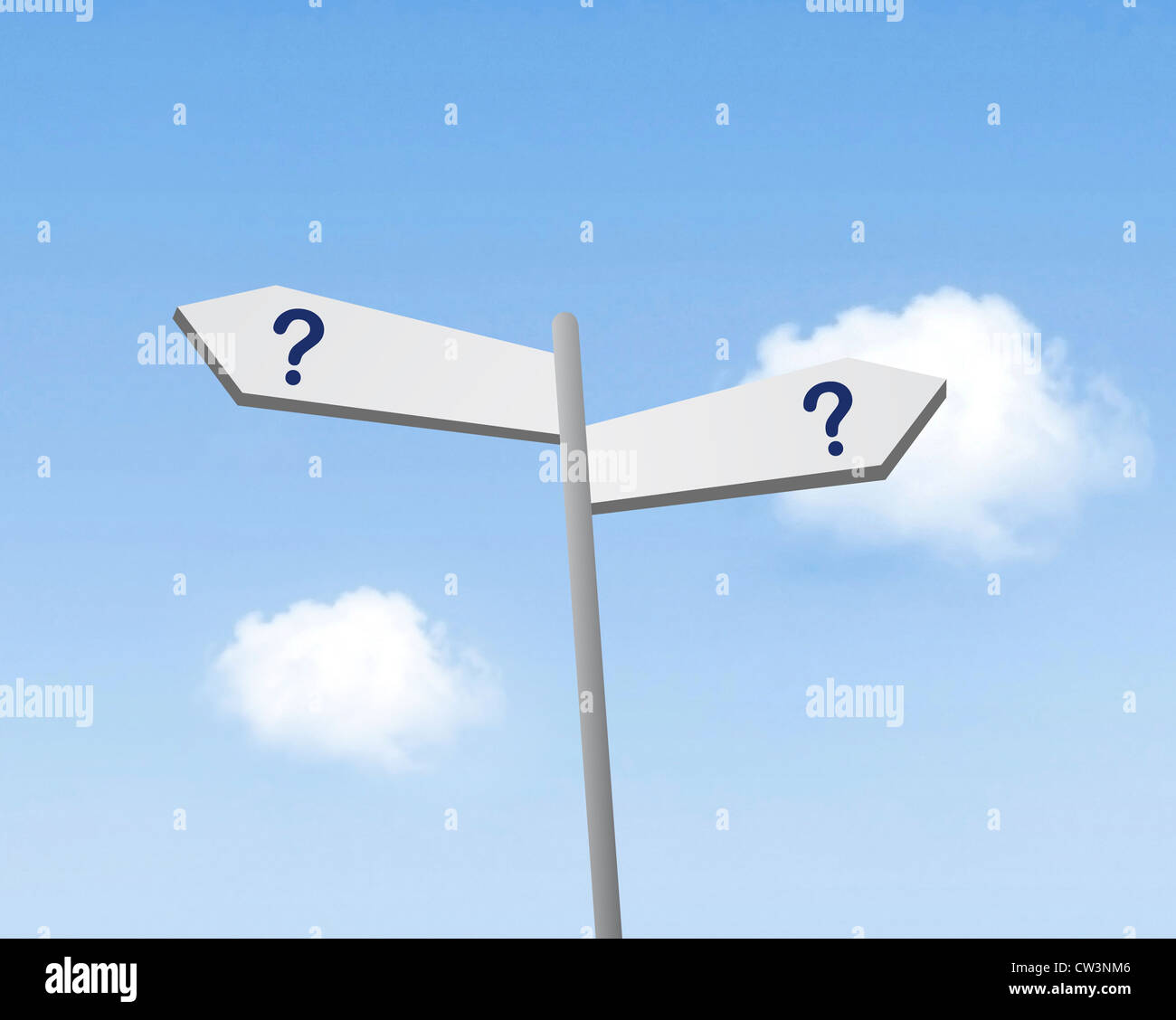 Which way - Stock Image