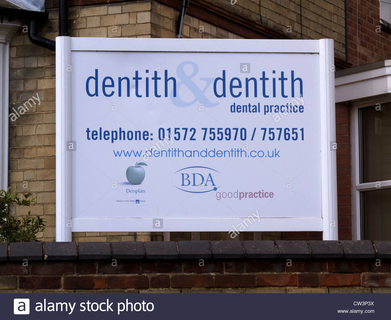 Amusing, humorous dentist's sign - Stock Image
