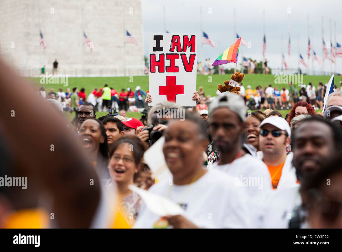 An HIV/AIDS rally in Washington, DC.  - Stock Image