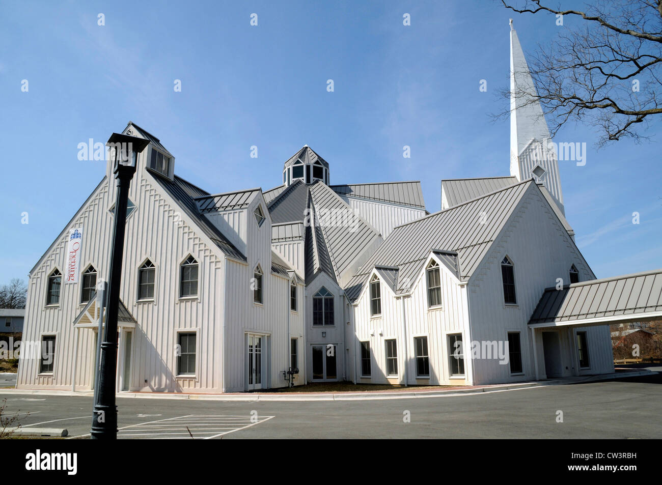 The Wallace Presbyterian Church in College Park, Maryland - Stock Image