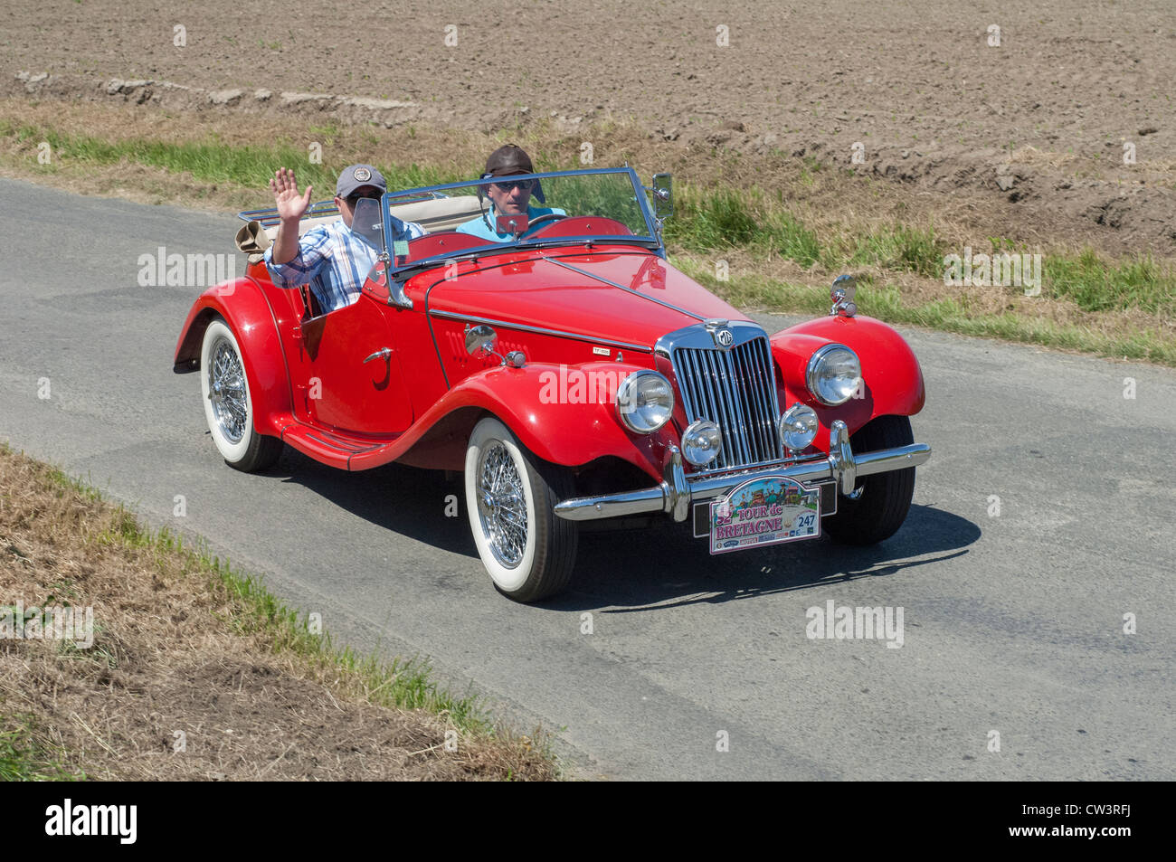 MG TF 1500 OF 1955 in the Tour de Bretagne near Pordic in the Cotes d'Amor (22) department of France 2012 - Stock Image