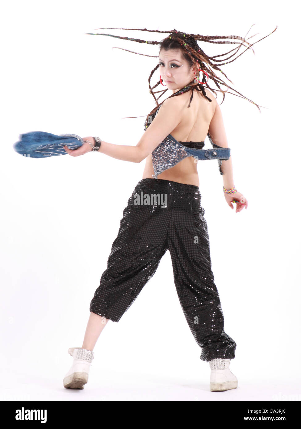 eaf7a212e Cute girl in various dance costumes and fun poses Stock Photo ...
