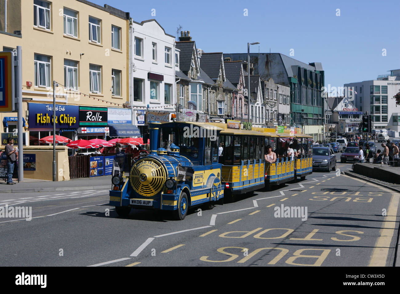 land train, newquay front - Stock Image