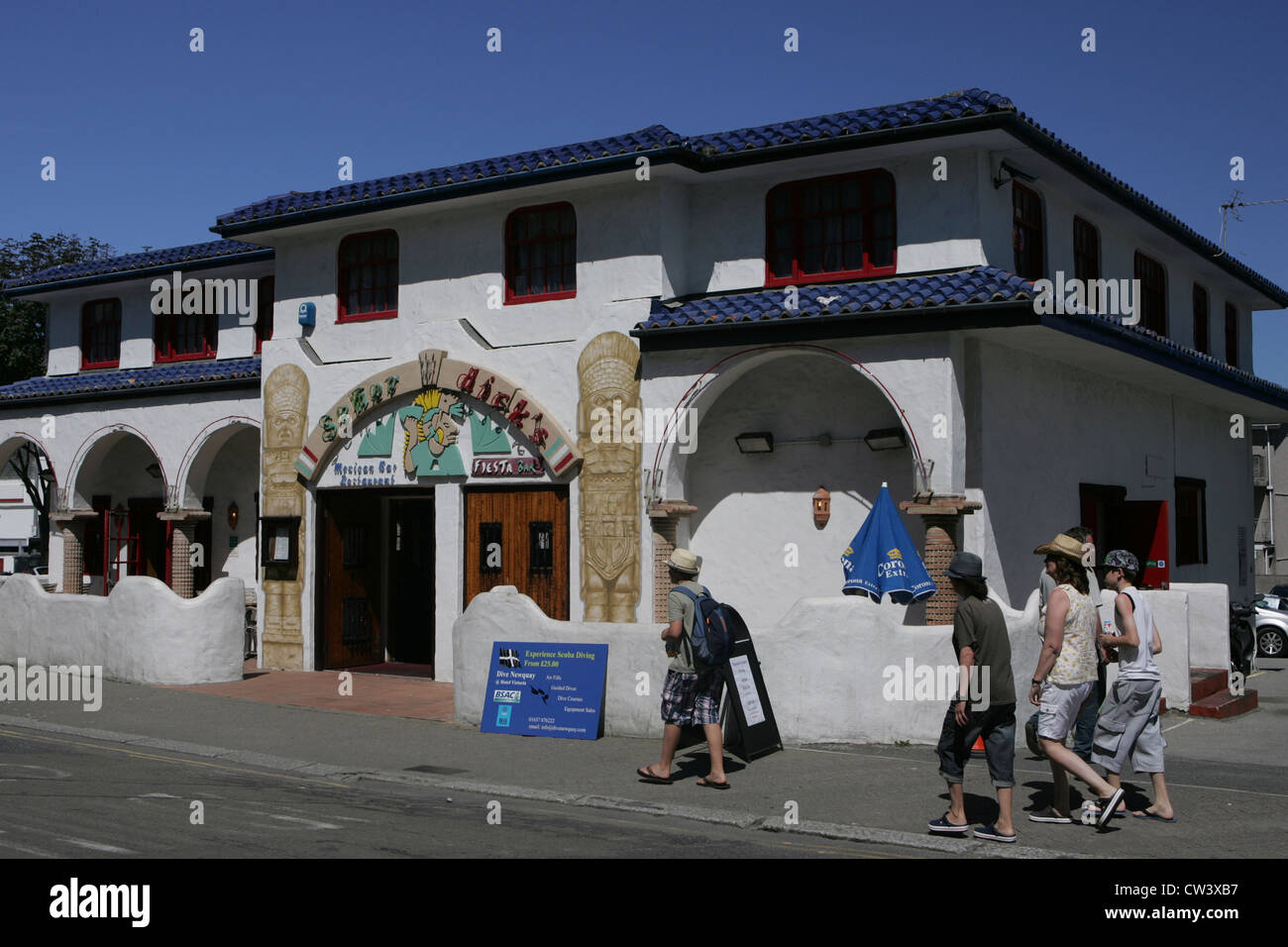 senor dick's Mexican restaurant and bar newquay Cornwall - Stock Image