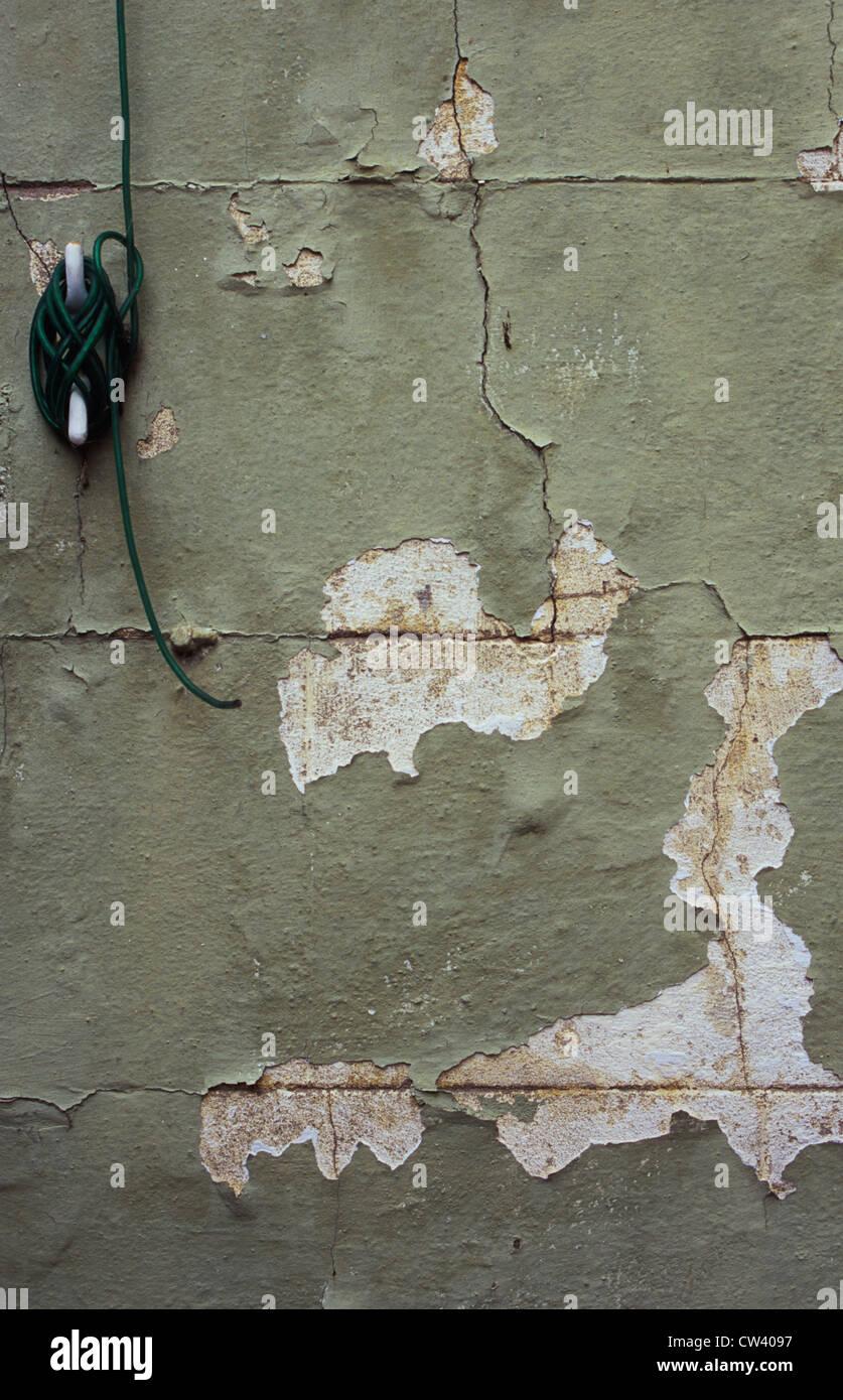 Awe Inspiring Uk England Norfolk Detail Breeze Block Wall With Its Paint Cracking Wiring 101 Cranwise Assnl