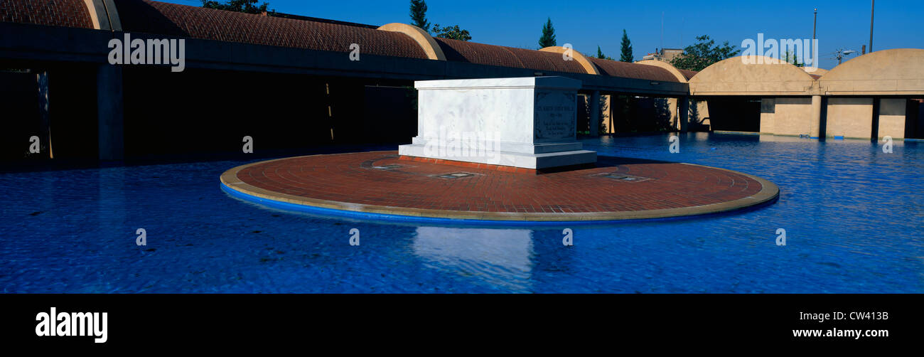 This is the Martin Luther King Center with Martin Luther King's Tomb at the center of a reflecting pool. - Stock Image