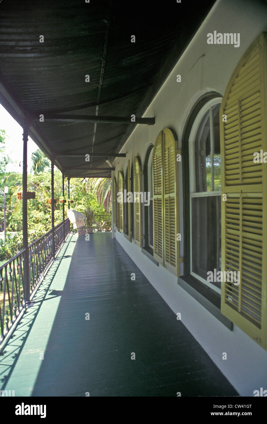 The Ernest Hemingway Home and Museum, Key West, Florida Stock Photo