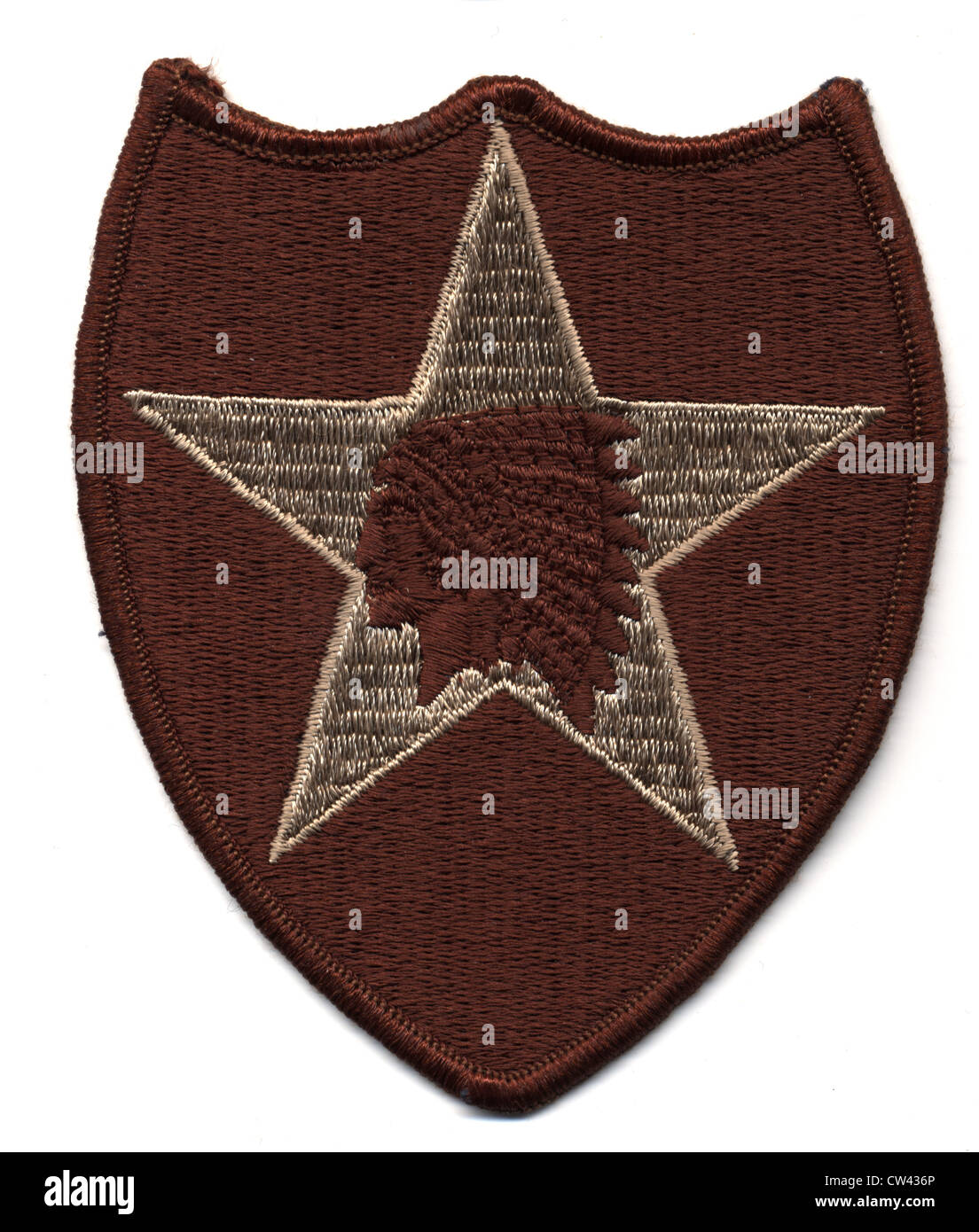 Arm patch of US Army. The second infantry division - Stock Image