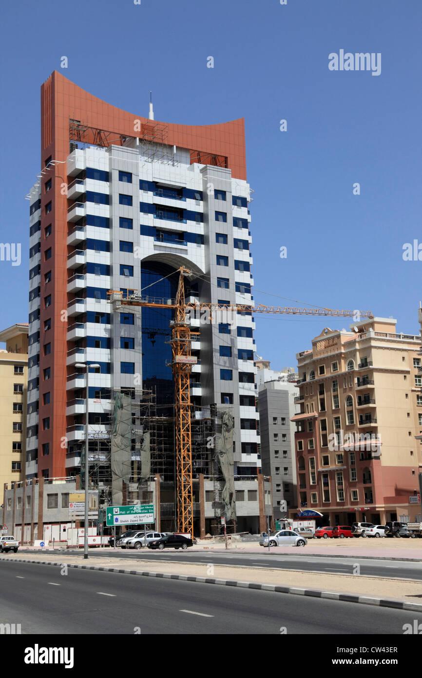 3459. Construction work, Al Barsha area, Dubai, UAE. - Stock Image