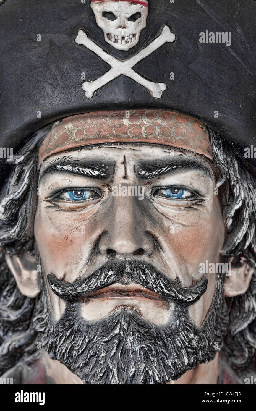 USA, Alaska, Wrangell, Pirate Face - Stock Image