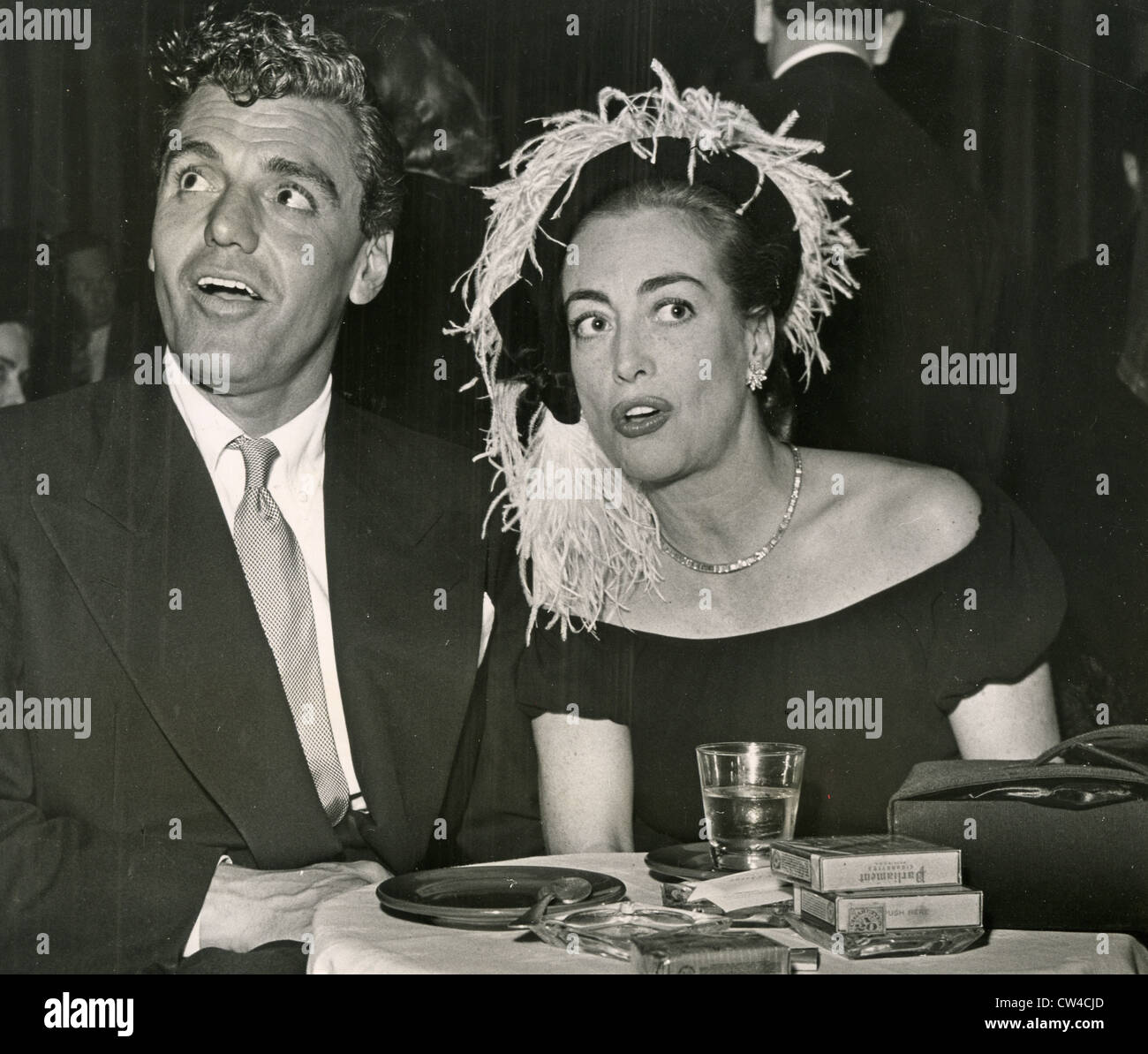 JOAN CRAWFORD US film actress with Greg Bautzer about 1950 - Stock Image