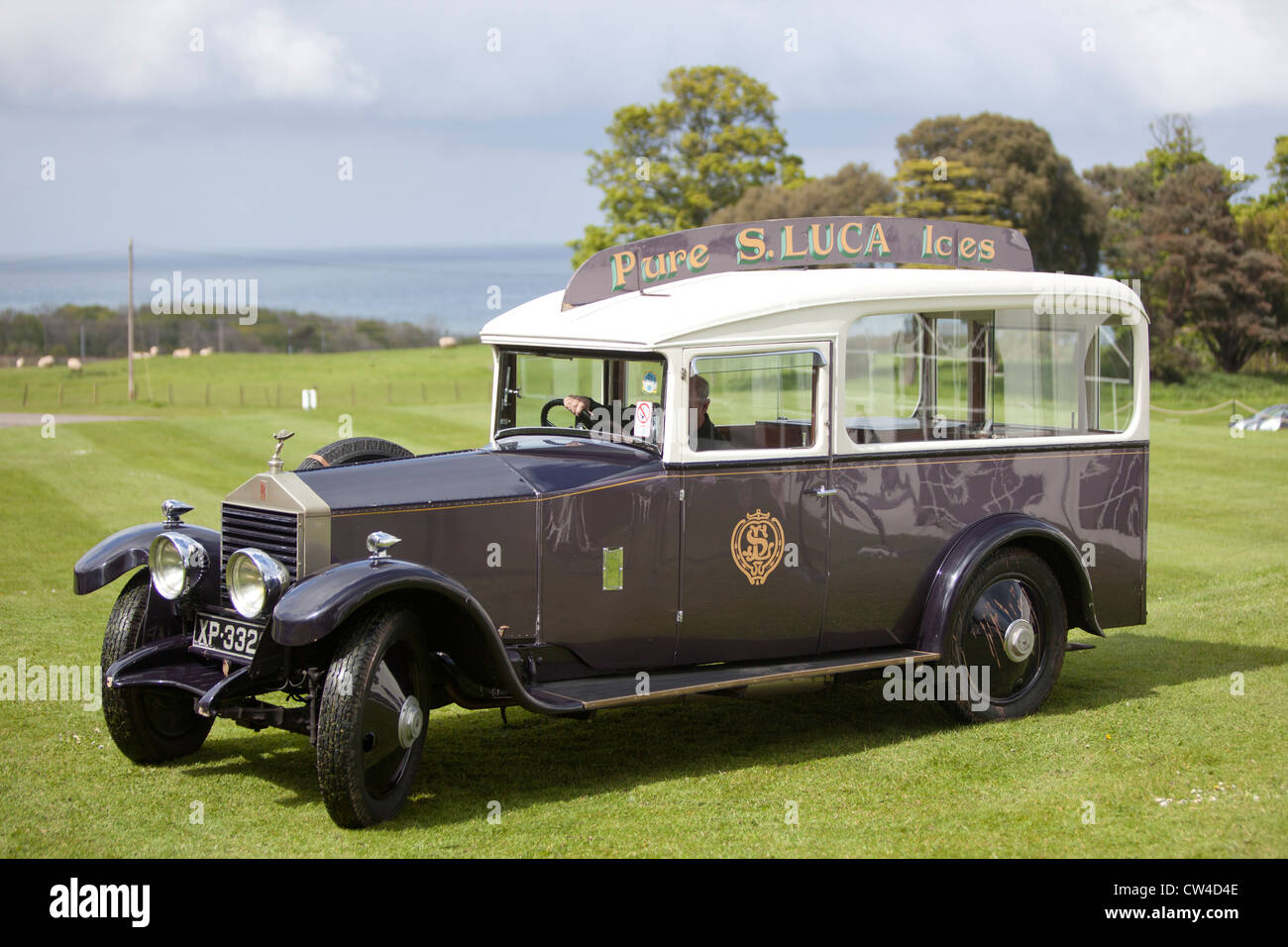Rolls Royce For Hire >> S. Luca vintage ice cream van Roll's Royce at Dunglass Estate in East Stock Photo: 49885262 - Alamy
