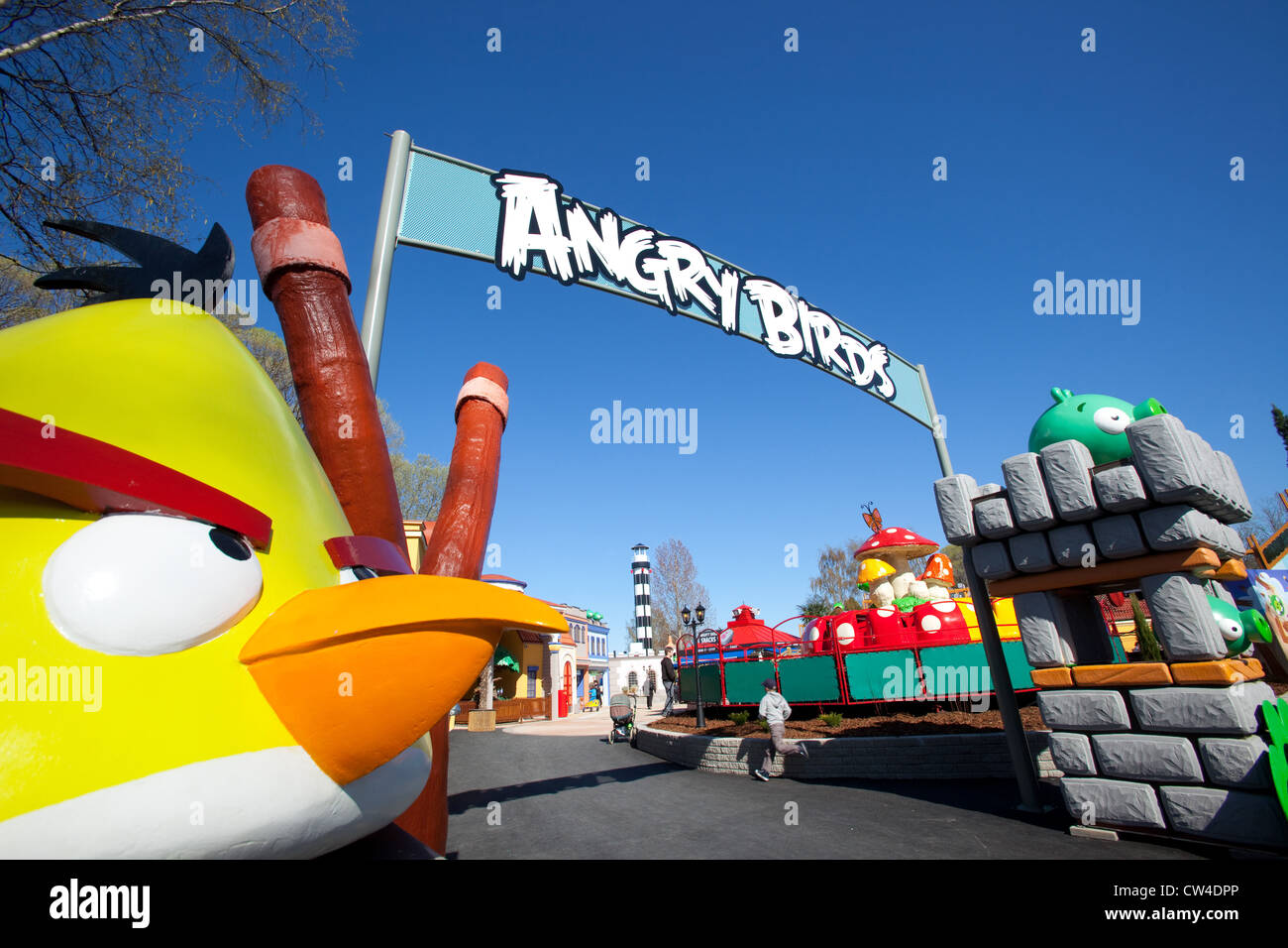 Angry Birds Land, Särkänniemi, Tampere, Finland - Stock Image