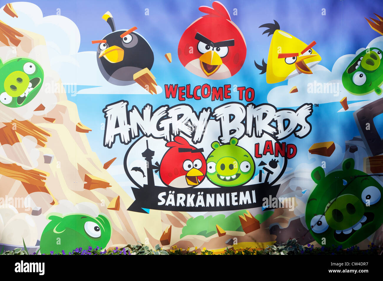 Angry Birds Land, Särkänniemi, Tampere, Finland Stock Photo