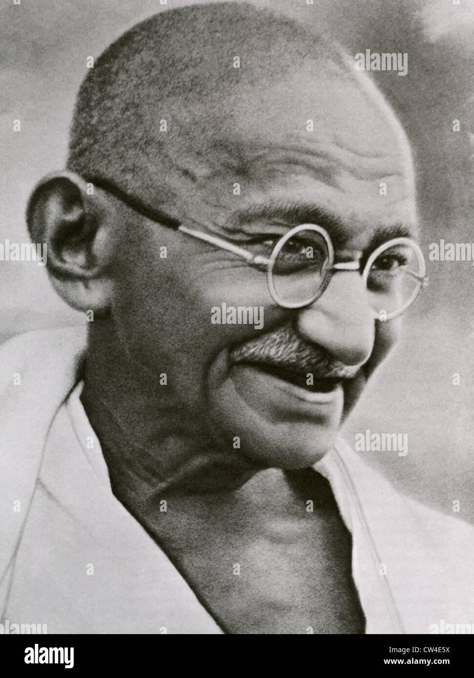 MOHENDRAS GANDHI (1869-1948) Indian political leader - Stock Image